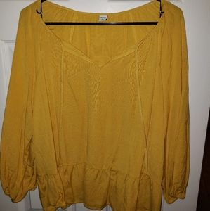 New a tags GOLDEN Yellow long sleeve blouse